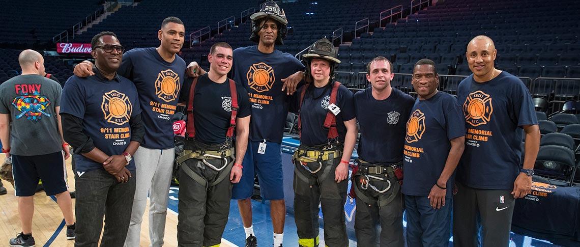 2019 New York Knicks 9 11 Memorial Stair Climb - National Fallen ... 24031f273